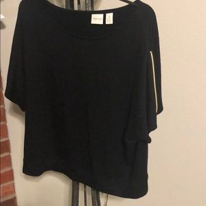 Chico's gold zipper sleeves blouse